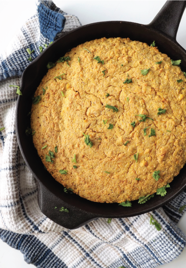 Pan of Vegan Cornbread